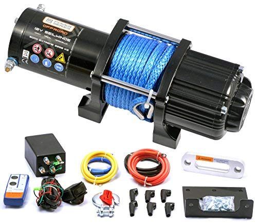 Elektrische Seilwinde 12 Volt von Power Series 5000 Extreme mit Funkfernbedienung und Handschalter